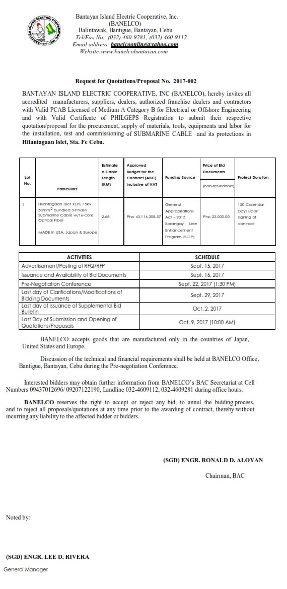 Request For Quotation Proposal